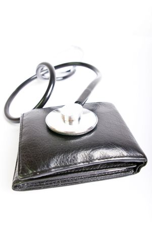 wallet with med kit Stock Photo