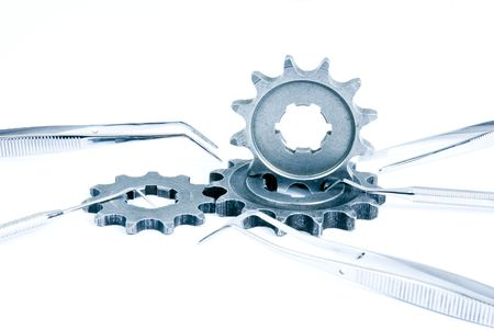 gears with med kit Stock Photo - 7068894