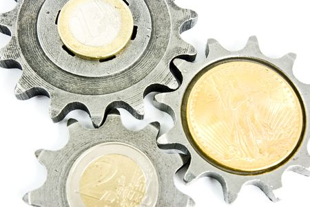 money with some gears photo