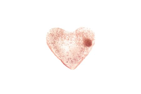 ilness: pink heart isoleted Stock Photo
