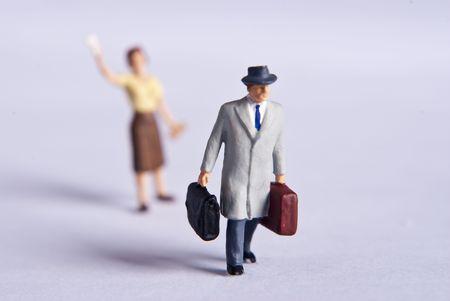 miniature man on travel Stock Photo - 7138045