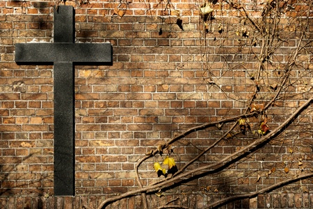 relogion cross on the wall