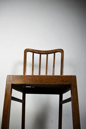 close range: old chair in close range Stock Photo
