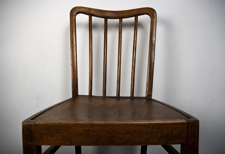 old chair in close range photo