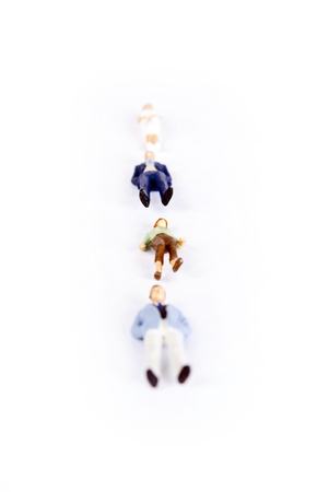 miniature people on white background Stock Photo - 8580065