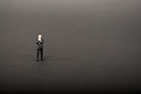 business man on black background Stock Photo - 9496960