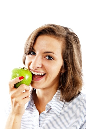 woman with apples photo
