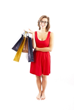 woman on shoping photo