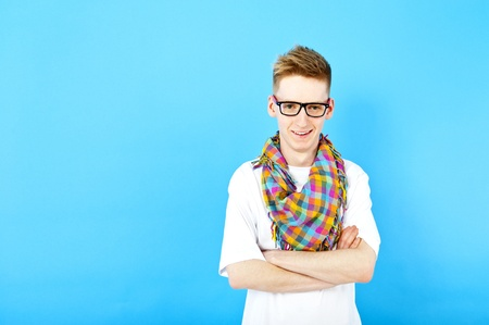 young man with eye glasses photo