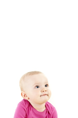 baby smiling and looking up Stock Photo - 13399457