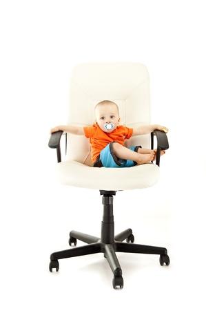 smeared baby: bah�a beb� en la silla de los bussines