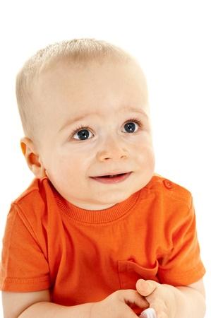 baby on white background photo