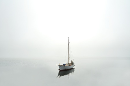 Boat on water near the coast photo