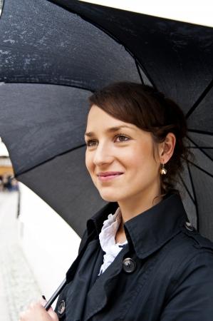 Woman with umbrella Stok Fotoğraf