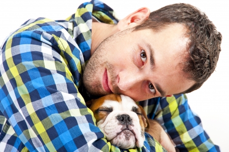 Man with his dog