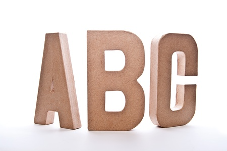 ABC Letters - Image Isolated on White photo