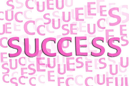 Success concept related words isolated on white  photo