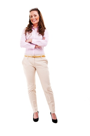 Full length of young business woman photo