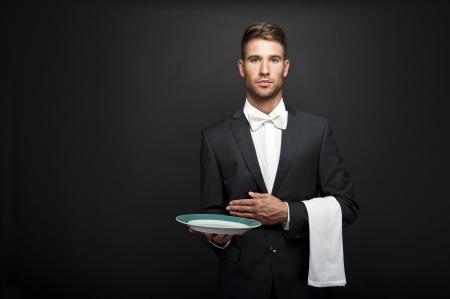 Professional waiter photo
