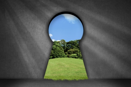 tunnel vision: Keyhole in the wall