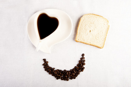 Smile for sweet breakfast with love photo