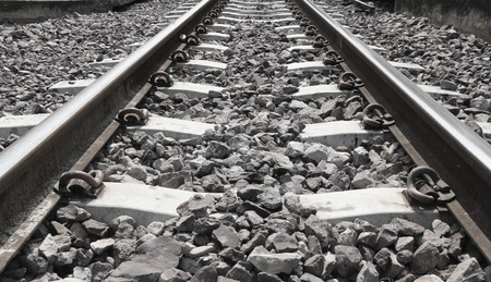railway tracks: Close up railway tracks