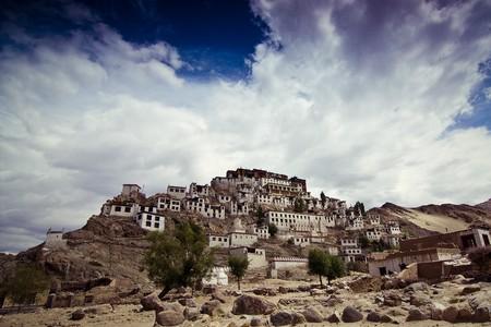 tibetian: tibetian temple on the hill Stock Photo