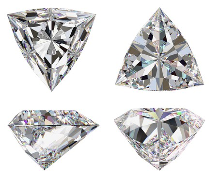 Diamond three star isolated brilliant photo