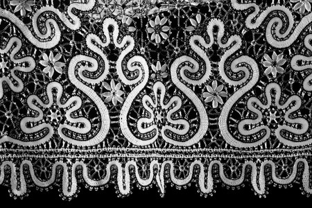 black and white lace photo