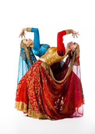 asia nude: young women dance indian dance