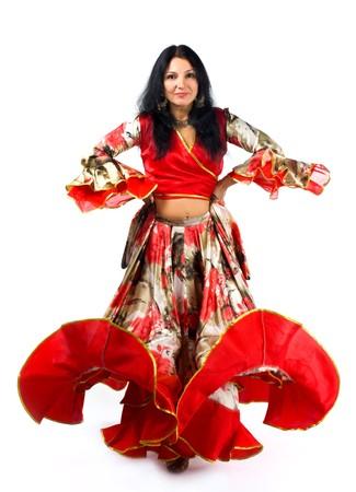 Mujer en traje tradicional - baile gitano Foto de archivo - 14682050