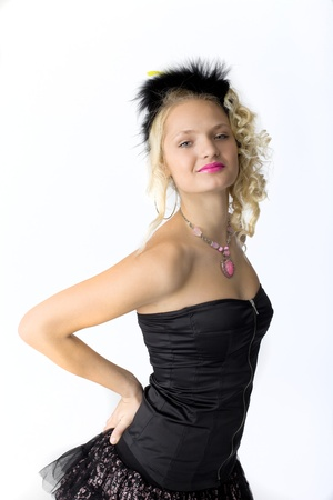 young beauty blond girl in cabaret costume Stock Photo - 14682061