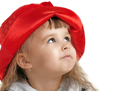 Little Red Riding Hood child costume portrait isolated Stock Photo - 9391699