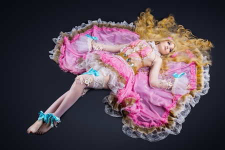 beautiful anime: Young woman posing in ball joint doll cosplay costume