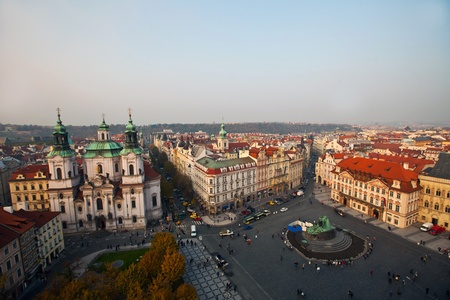 broach: The Old Town Square in the center of Prague City
