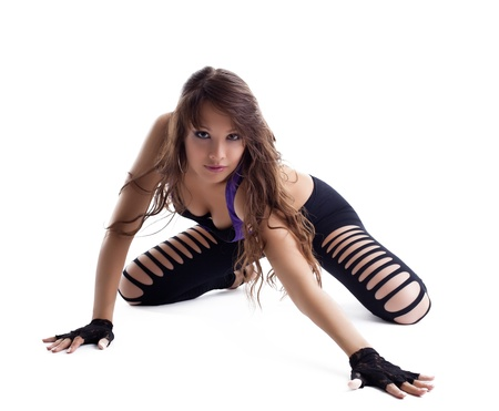 sexy young woman posing in dance costume isolated Stockfoto