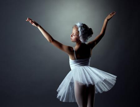 bailarina de ballet: Imagen de gracia poco White Swan posando en el estudio Foto de archivo