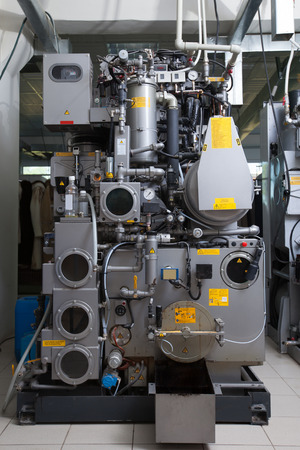 dry cleaning: Image of moden automated equipment in dry cleaning