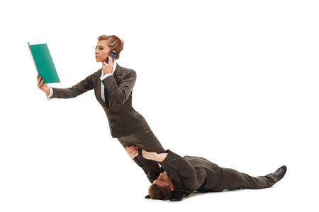 represent: Flexible people represent concept of multitasking Stock Photo