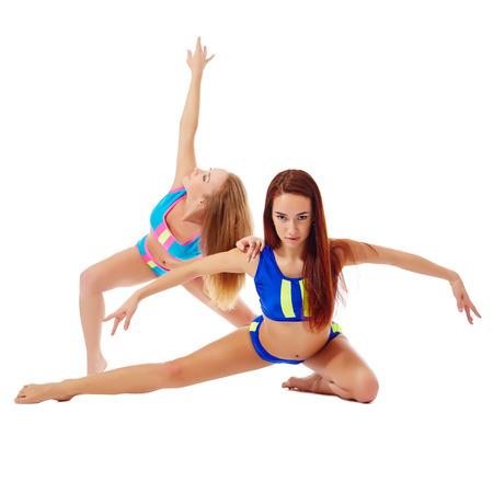 graceful: Image of graceful female athletes posing at camera