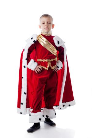 Image of smug little king isolated on white background