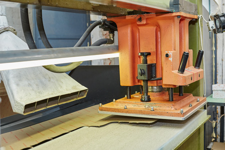 insoles: Image of semi-automatic press for producing insoles Stock Photo