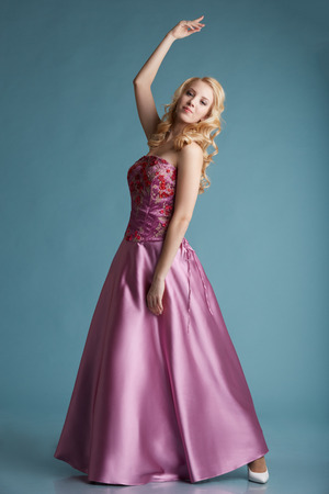 Blonde Girl Prom Dress