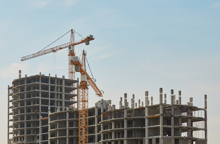 concrete commercial block: Real Estate. Construction of new apartment building