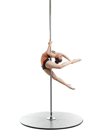 harmonous: Image of sexy dancer spinning gracefully on pylon