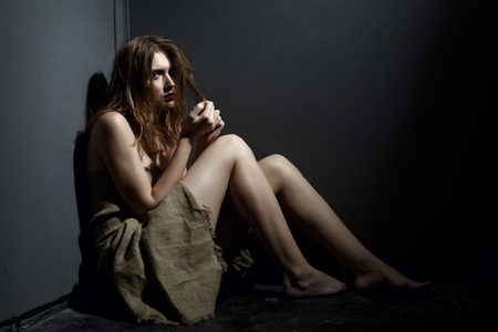 kidnapping: Photo concept. Model posing as victim of kidnapping