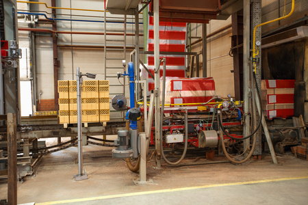 manufacturing equipment: Manufacturing equipment in shop for brick production