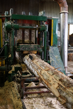 woodworking: Woodworking. Image of timber machining at sawmill