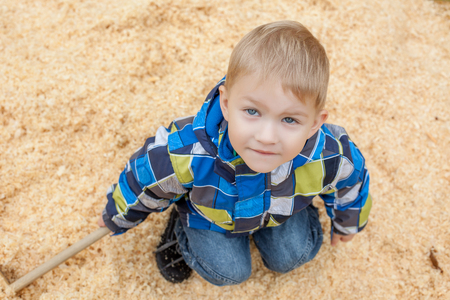 young boys: Image of cute little boy posing looking at camera, close-up