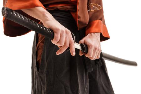scheide: Chinese Schwert in Scheide schließen Schuss im Studio nach oben Lizenzfreie Bilder